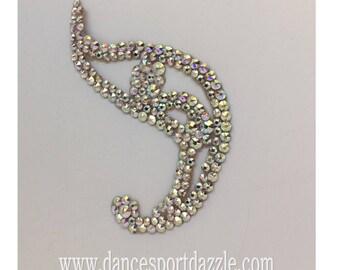 Swarovski Rhinestone Hair Jewelry Ballroom Hairpiece