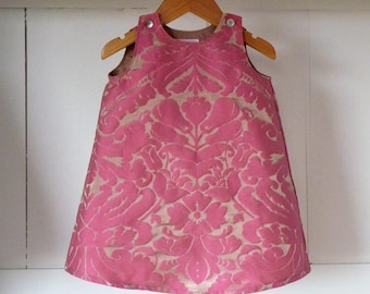 Line 2 years dress printed pink swirls