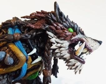 Warcraft: Loyal Wolfhawk mount sculpture
