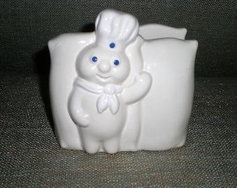 Pillsbury Doughboy Napkin Holder Ceramic Kitsch