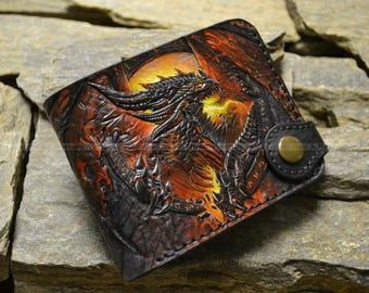 """leather wallet """"The Dragon"""""""