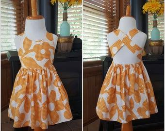 Handmade dress for girls , Sundress , Birthday Dress , Gifts for little Girl