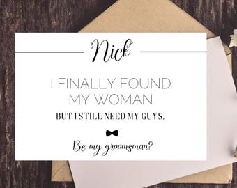 Groomsmen invitation etsy groomsman proposal card groomsmen cards funny groomsmen proposal card set simple be stopboris