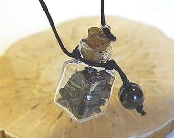 "Shungite pendant ""Elite shungite bottle"" EMF protection from Karelia"