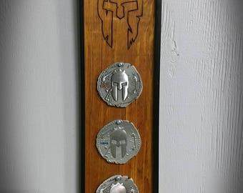 Trifecta Medal rack / holder / plaque