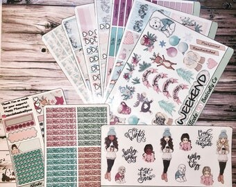 Baby It's Cold Outside Kit Planner Stickers