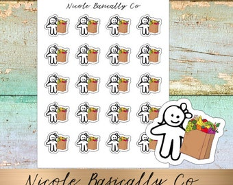Cutie Pies- Grocery Bags- Planner Stickers