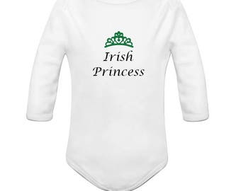 Irish Princess Onesie, St. Patricks Day, Baby onesie