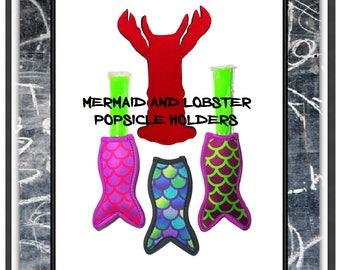 Popsicle Sleeve WHOLESALE BULK Popsicle Holder Mermaid Present Ice pop sleeve  Lobster Mermaid Popsicle holder Mermaid Holder Sleeve