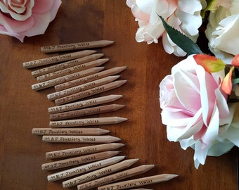 Personalised mini pencils, save the date pencils, wedding favour, pencil us in, wedding pencils, custom pencils, party favour, personalised