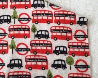 three pack red london bus burp cloths