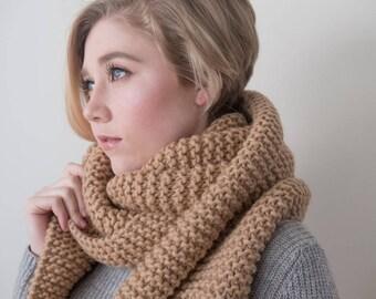 100% Virgin wool Knit Scarf, Chuncky scarf, virgin soft wool, Oversized Scarf, Long Winter Scarf, pure wool.
