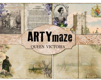 QUEEN VICTORIA Digital journal *instant download