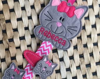 Cat Clippie Holder, Owl Hair clip organiser, Unicorn clippie holder. Personalised clippie holder, Bunny Owl Cupcake Butterfly Unicorn Gift