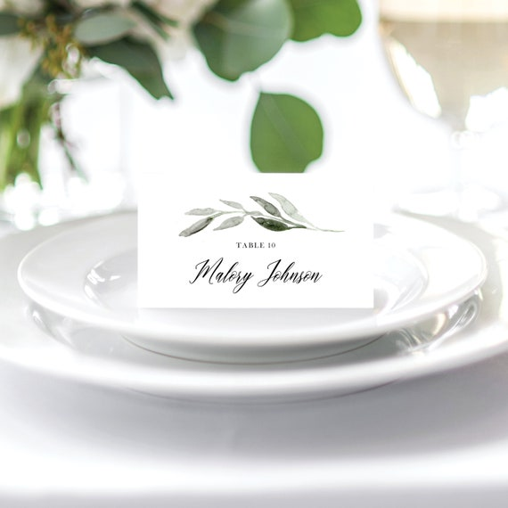Wedding Place Cards Escort Cards Wedding Place Card Template Name ...