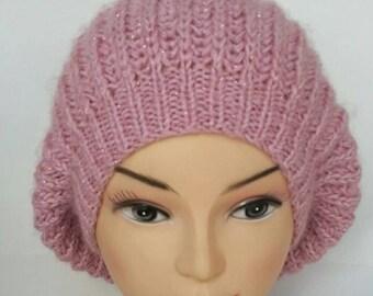 Hand knit hat, Women beanie, Warm hat , Wool hat, Hat slouchy, Womens winter hats, Women's hats, Knit winter hats, Knit beanie, Knitted hat