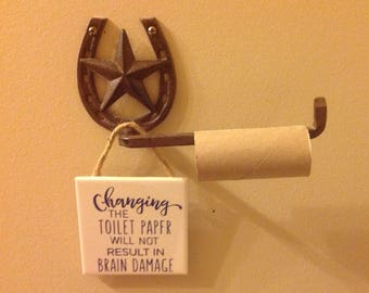Bathroom Hanging Sign-Toilet paper-Funny