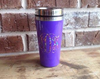 Insulated Coffee Mug-Personalized/Customized Coffee Mug-Monigrammed Coffee Mug