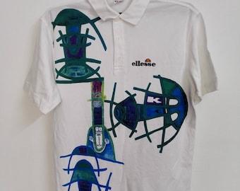 Vintage Ellesse Polo Shirt Size Large