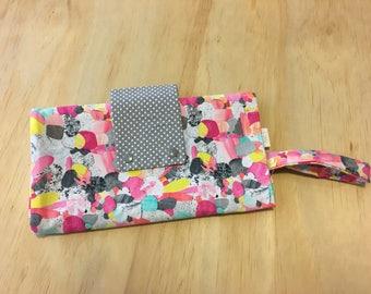 Rainbow Nappy Clutch/ Nappy Wallet/ Diaper Change Mat/ Baby Change Bag