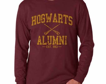 Hgwrts Alumni #1 Yellow print on Longsleeve MEN tee