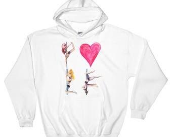 Pole Dance Fleece Pullover Hoodie || Pole Love