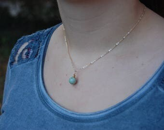 Ocean Jasper Genuine Gemstone Pendant Necklace