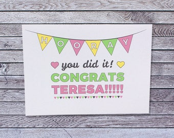 Personalized Congratulations Card