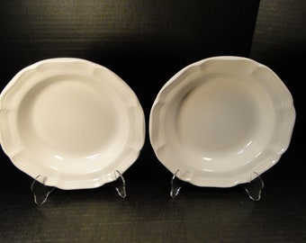 "TWO Mikasa French Countryside Salad Plates 8"" White Dessert F9000 Set of 2 EXCELLENT!"