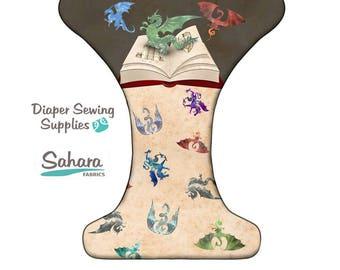 Dragon be there cloth diaper - AIO cloth diaper - one size cloth diaper - hemp bamboo diaper - wahm cloth diaper -
