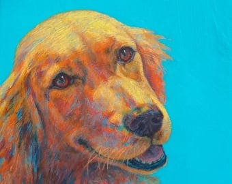 """Your Dog in Color with Texture & Emotion - 10""""x 10"""""""