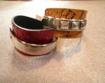 """bracelets """"snake scales"""""""