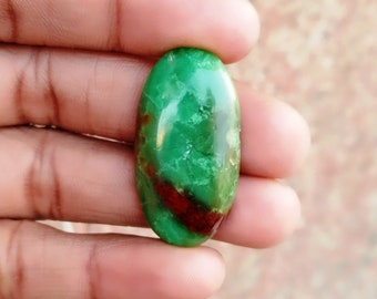 Warm sell 29ct Chrysoprase Natural Gemstone Super Quality AAA+++  Cabochon , Smooth, Oval Shape, 34x18x5mm Size, AM279
