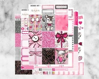 W137 Sweetheart ECLP VERTICAL Weekly Kit, Planner Stickers, Erin Condren, Sticker Kit, Valentines Kit, Valentines Stickers, February, Love