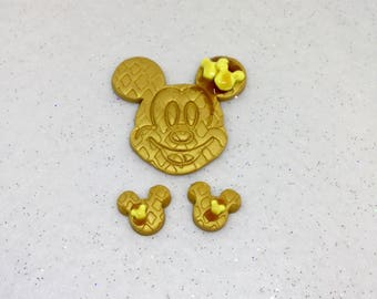 Mickey Mouse Waffle Brooch &/or Earrings