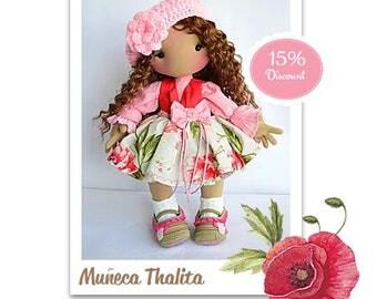 Textile wrist. Sculptural art doll. Waldorf inspired doll. Collectable. Dolls. Artdolls. OOAK doll. Handmade.