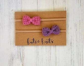 Crochet Headband / Bow Headband / Nylon headband