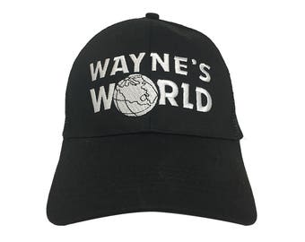 Wayne's World logo Hat Wayne Campbell Garth Shwing Cosplay quality stitched/embroidered Hats