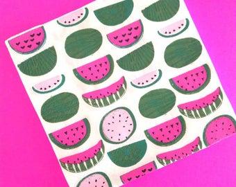 One in a Melon. Watermelon. Watermelon Napkins. Watermelon Party. Watermelon Birthday. Watermelon Theme. Watermelon First Birthday.