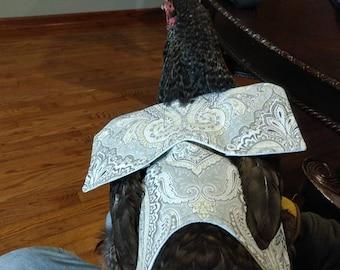 Royal Sage Fabric - Chicken Apron/Saddle