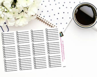 Planner Stickers| Build a List or Tracker Stickers| 7 Line Checklist Sticker|Checklist Box Sticker|Neutral Colors|LB001