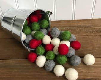Christmas Felt Ball Garland- Party, Holiday, Party Decor- Pom Pom Decor