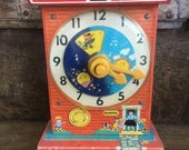 Fisher Price clockmusic boxteaching clock 60s educational 60s toys old macdonald collectible toyretro toys price toysretro toy