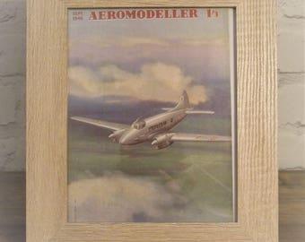 Framed Aeromodeller magazine, September 1946, Aircraft Magazine, vintage, old,