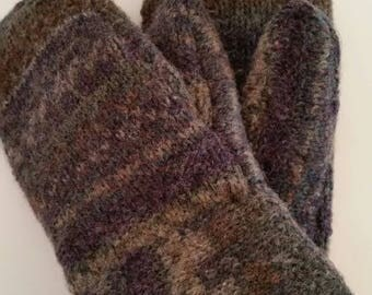 Hand made Mittens Sweater Mittens Wool Mittens Fleece Mittens Soft fleece Cozy