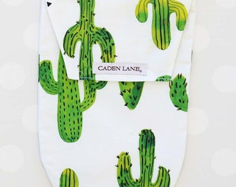 Prickly Cactus | Watercolor Cactus Diaper and Wipe Holder | Succulents | Green Cactus Baby Shower Gift