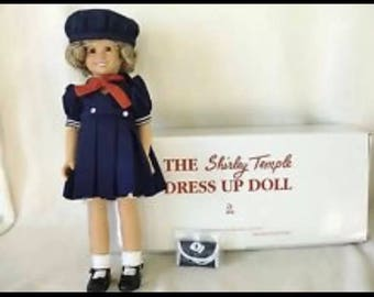 """Vintage Shirley Temple """"Dress Up"""" Doll from Danbury Mint New Mint conditon"""