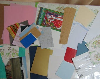 Junk journal supplies paper and card pack 400g mixed