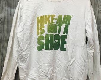 VINTAGE NIKE SWOOSH Air Big Logo Windbreaker Jacket Sweater Sweatshirts Sportswear Runner