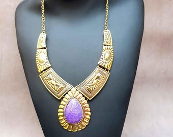 ethnic bib necklace